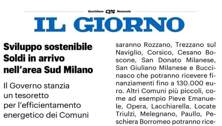 Dal governo nuovi investimenti per i comuni del Sud Milano
