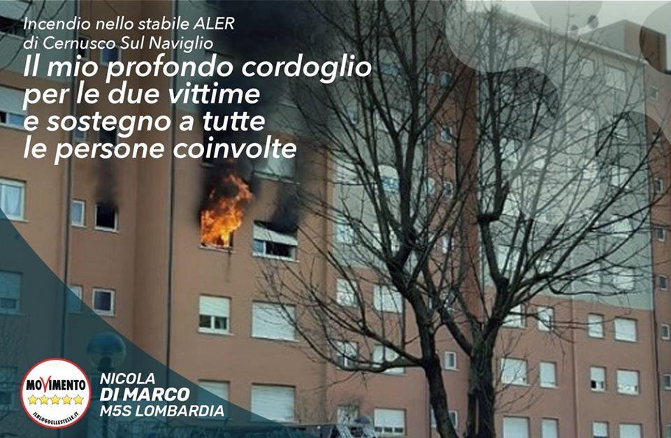 Incendio Case Aler: 2 morti, profonda tristezza