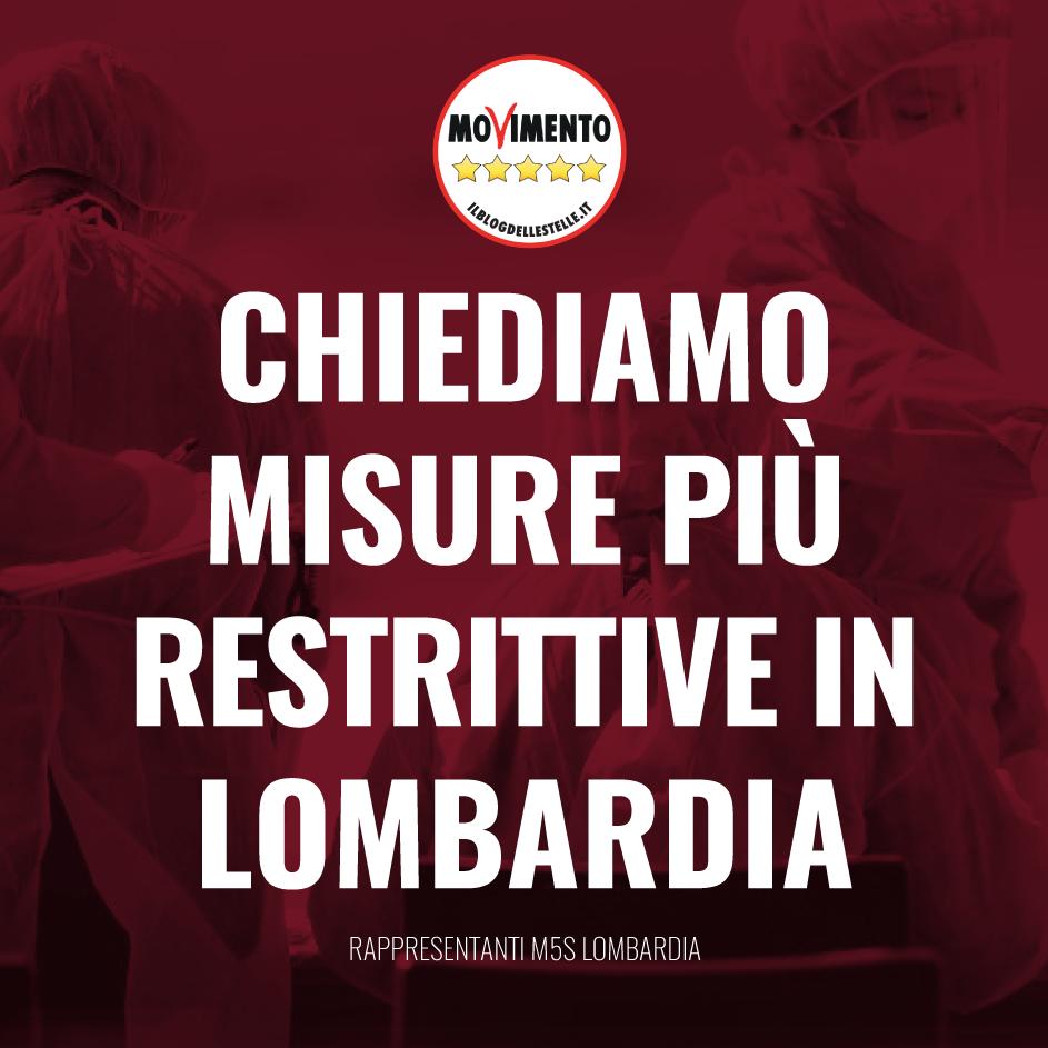 CORONAVIRUS – chiediamo misure più restrittive per la Lombardia